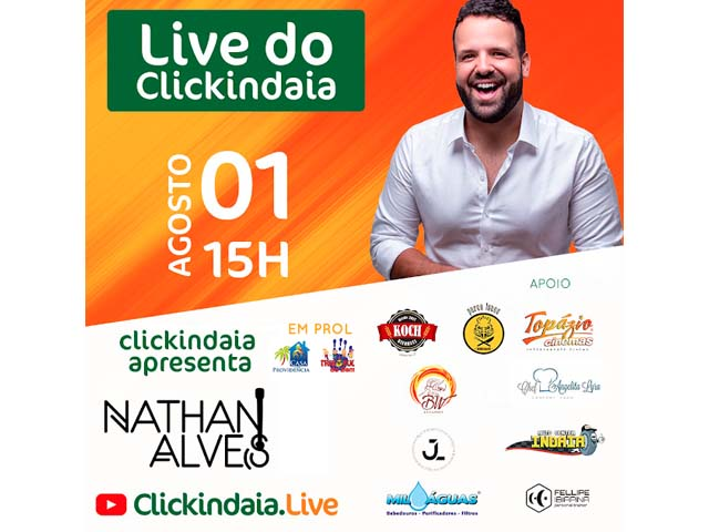 ClickIndaia realiza Live beneficente no sábado (01)
